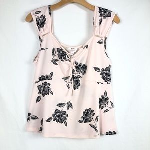 Candie's Blush Pink Floral Tank Top